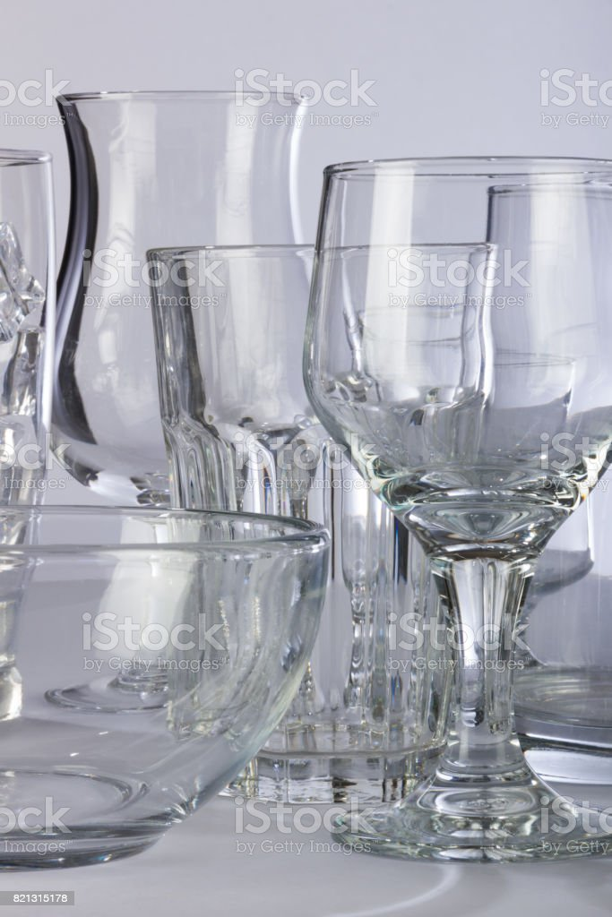 Glassware Lining the Professional Shelf stock photo