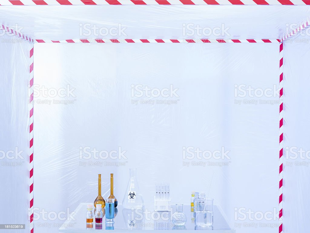 glassware prepared for experimenting in the lab royalty-free stock photo
