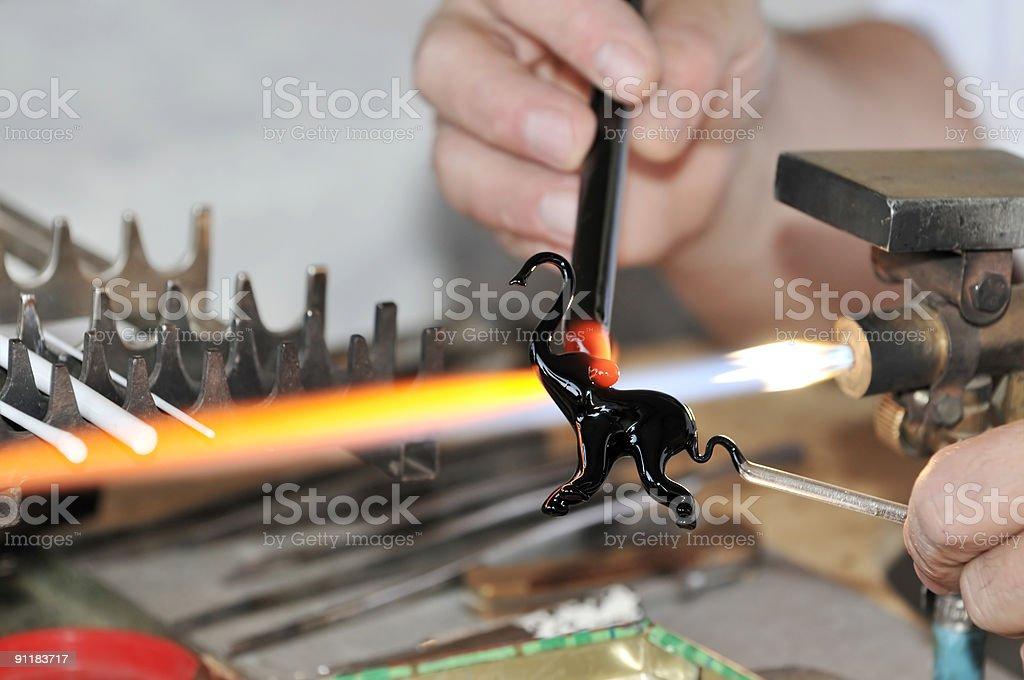 Glasswork stock photo