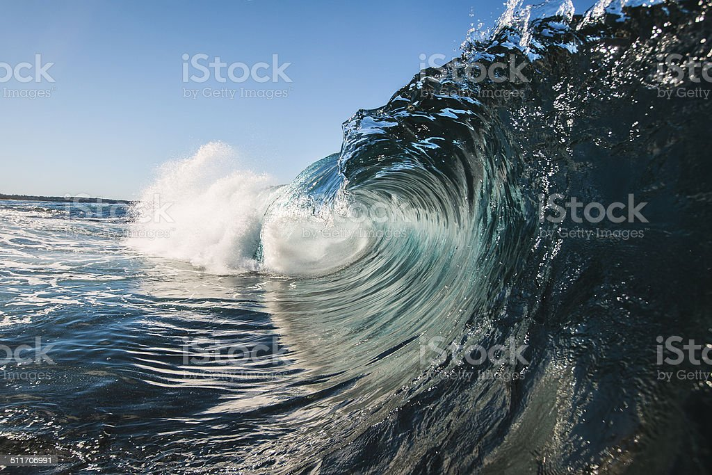 Glassy curl stock photo