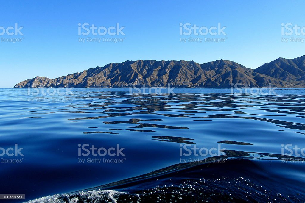 Glassy Day on the Sea of Cortez stock photo
