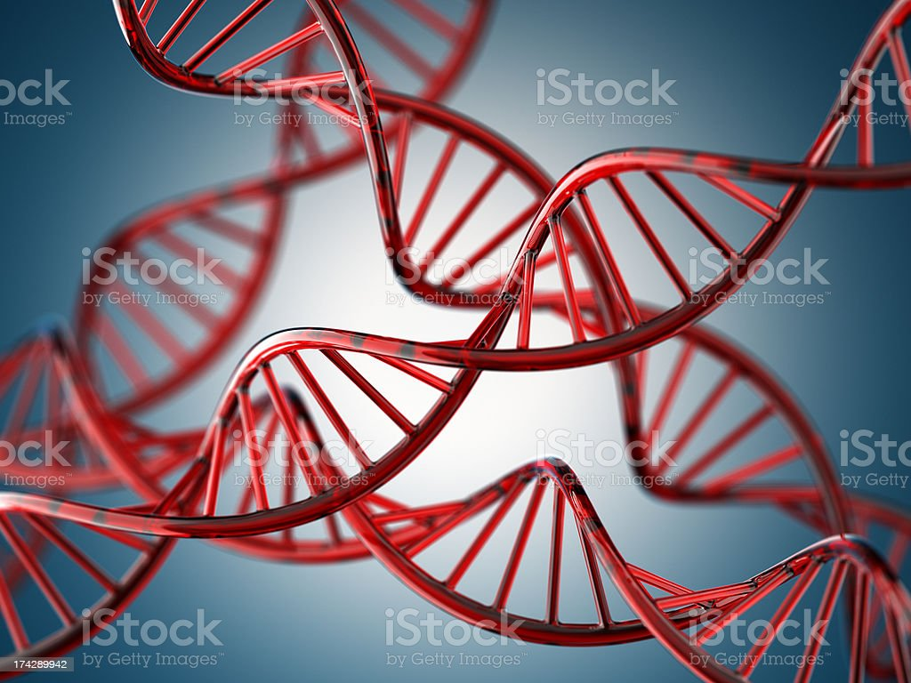 Glassy DNA royalty-free stock photo