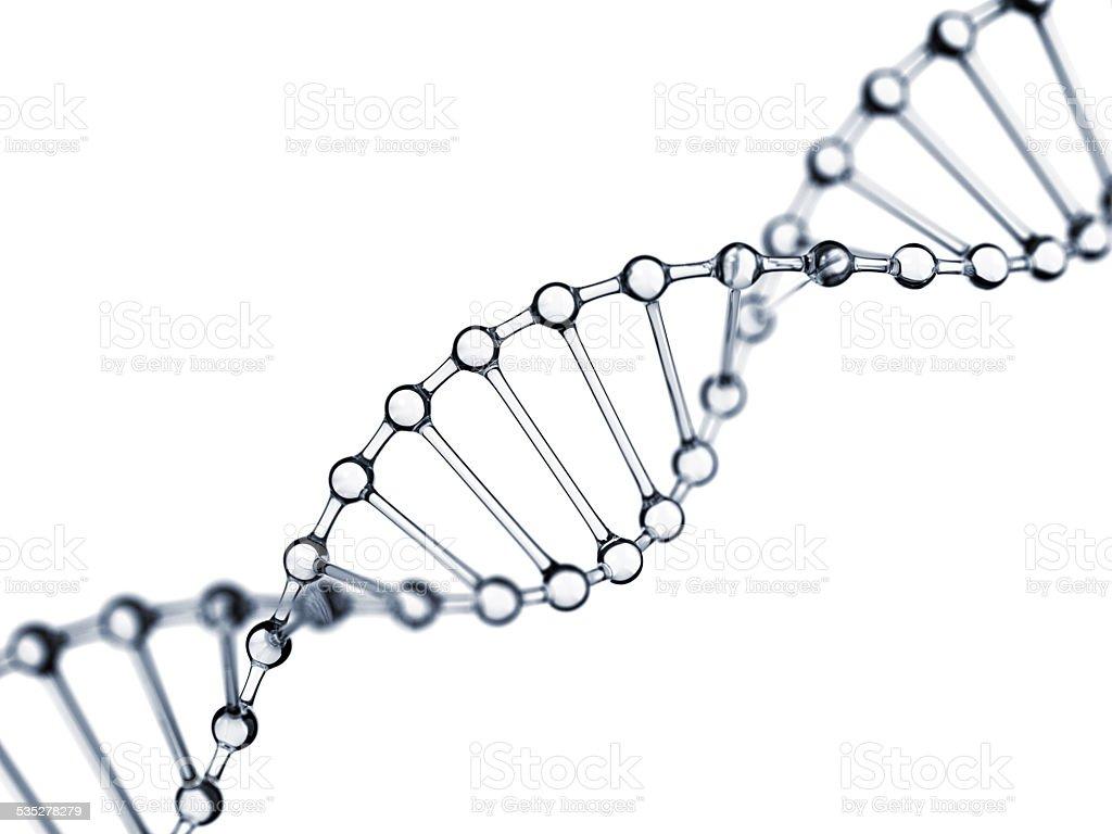 Glassy DNA stock photo