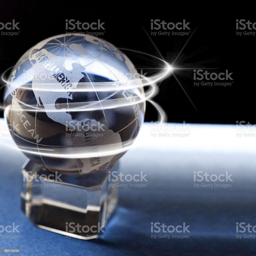 Glassy Globe – America royalty-free stock photo