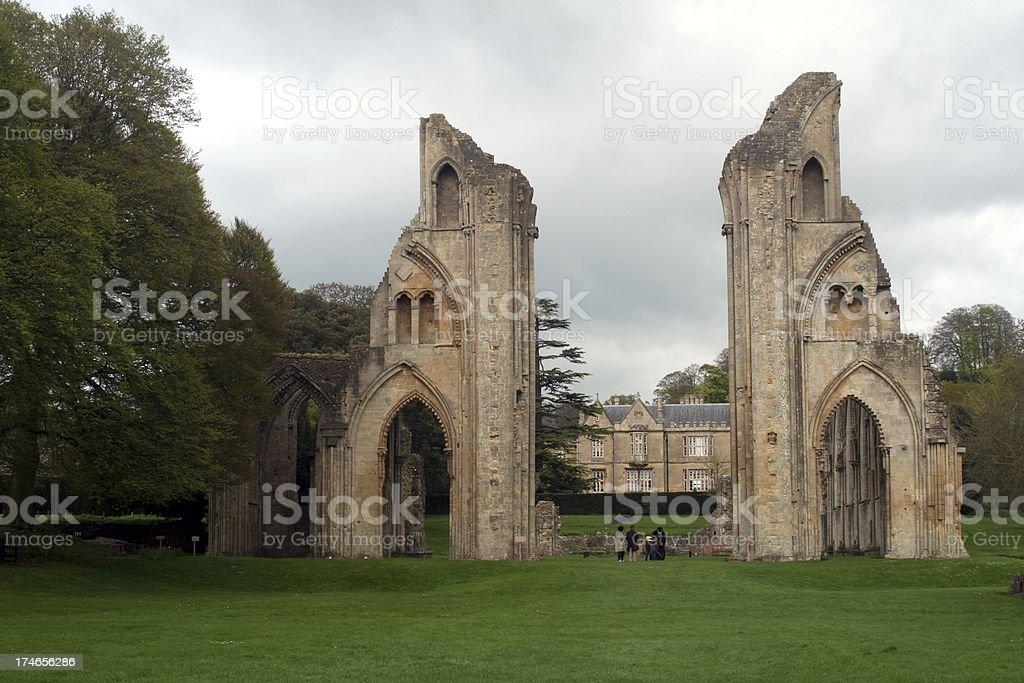 Glastonbury Abbey royalty-free stock photo