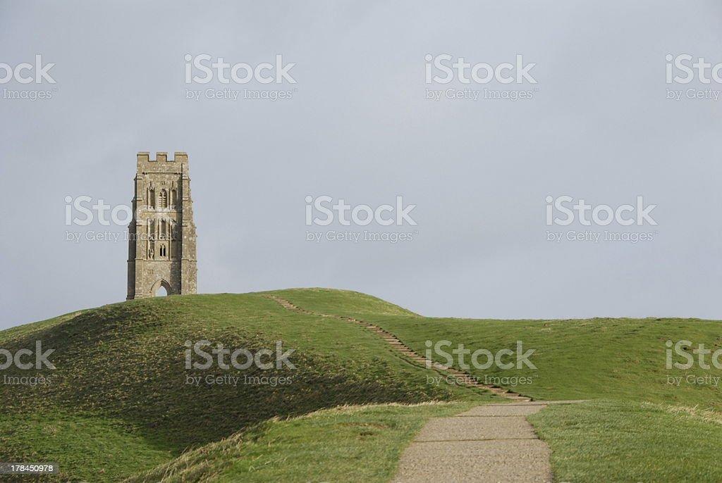 Glastonbury Tor royalty-free stock photo