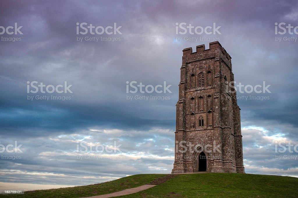 Glastonbury Tor, St Michael's Tower, Somerset, UK stock photo