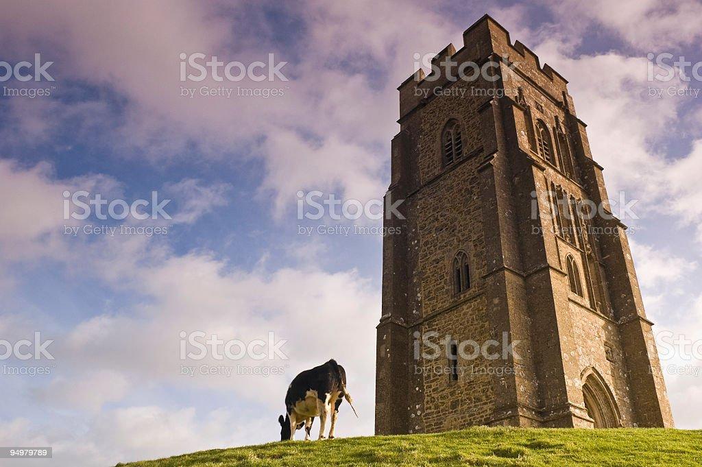 Glastonbury Tor, UK royalty-free stock photo