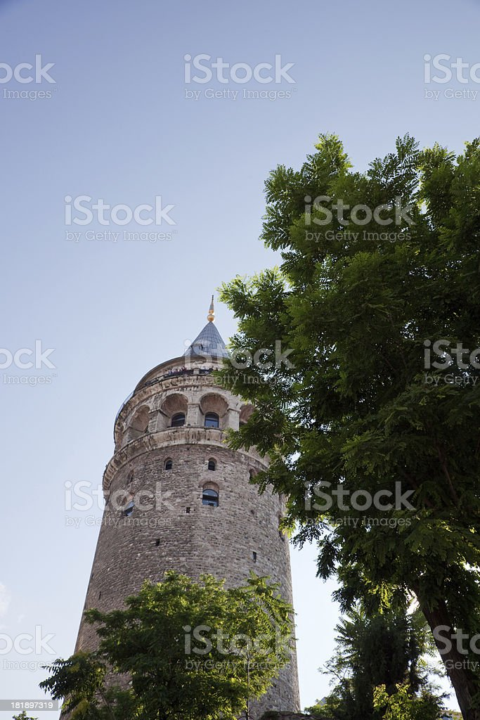 Glata tower istanbul turkiye royalty-free stock photo