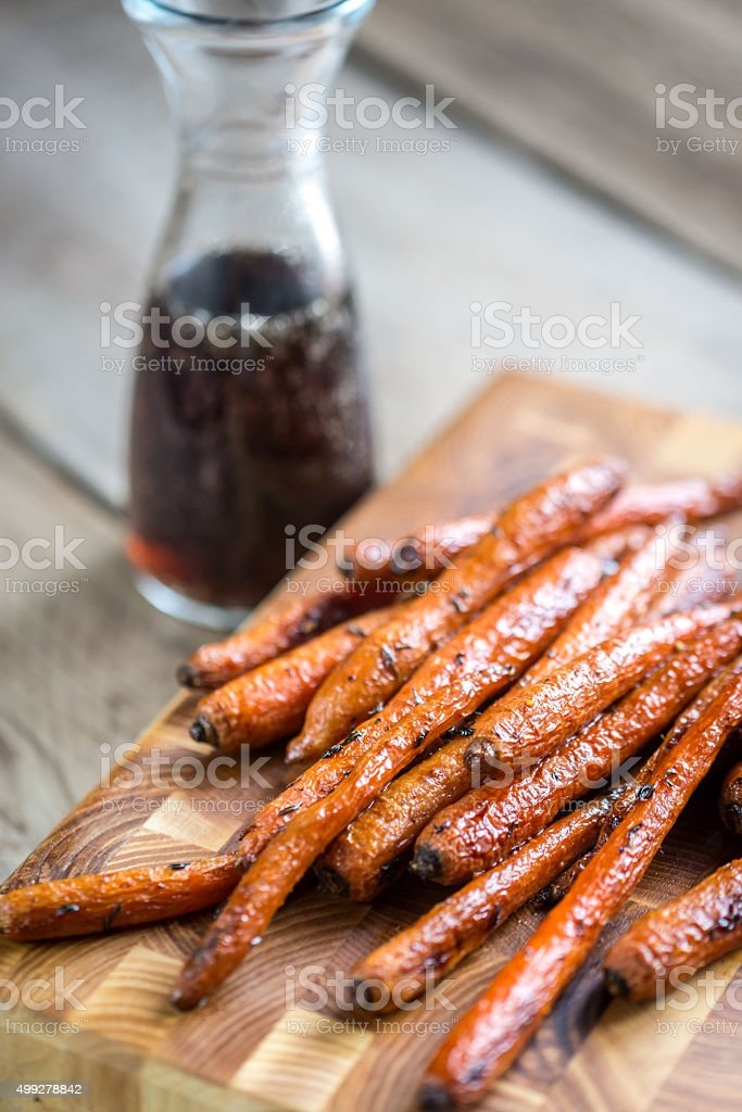 Glazed carrots stock photo