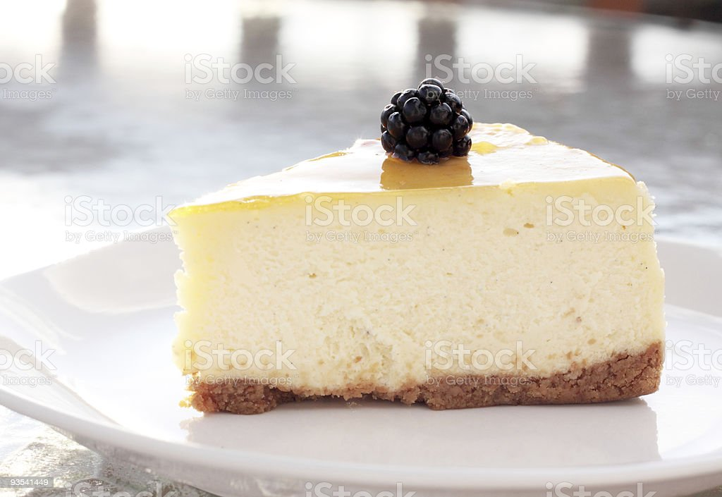 Glazed Cheesecake royalty-free stock photo