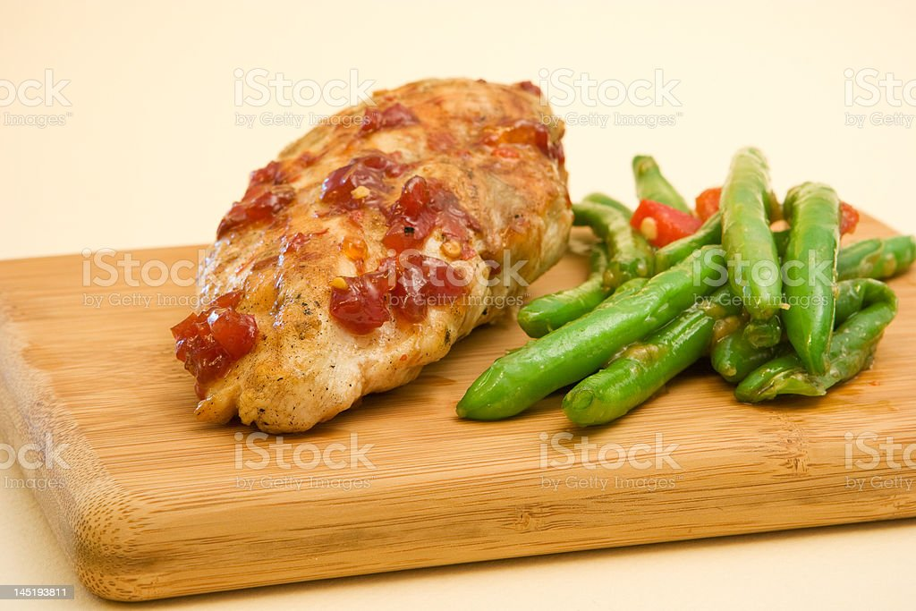 glazed chicken royalty-free stock photo