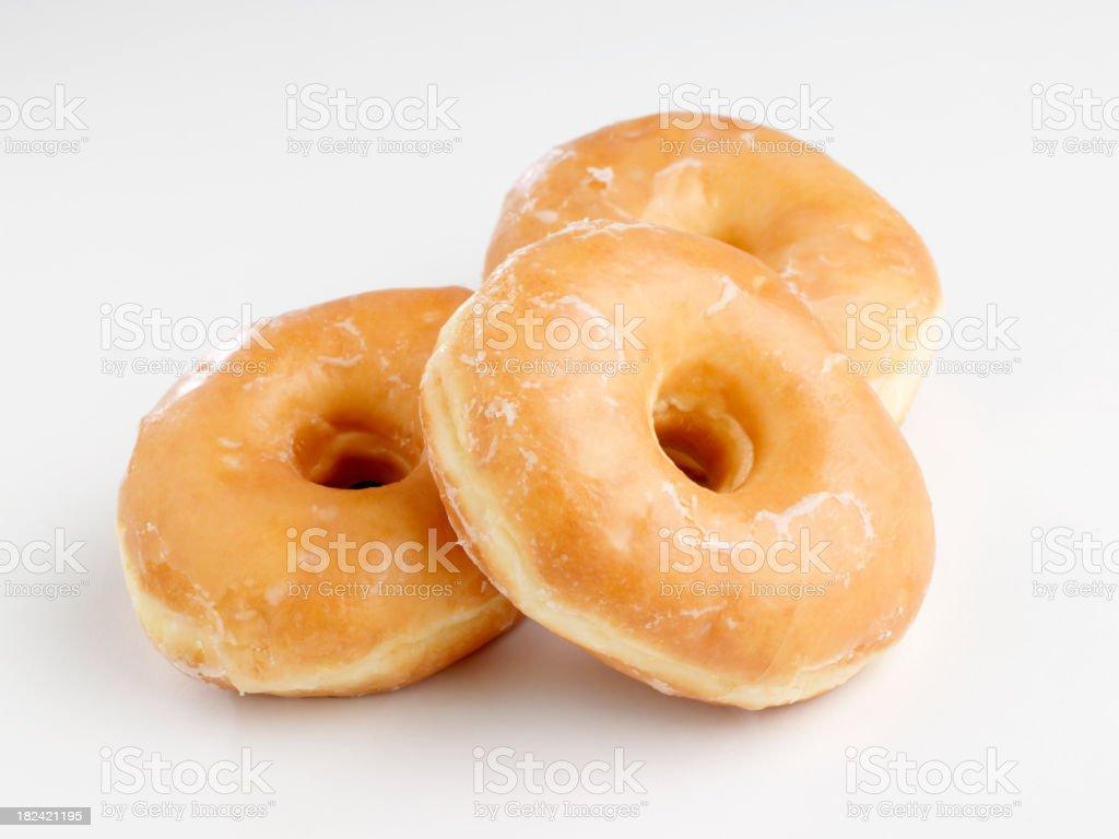 Glazed Doughnuts stock photo