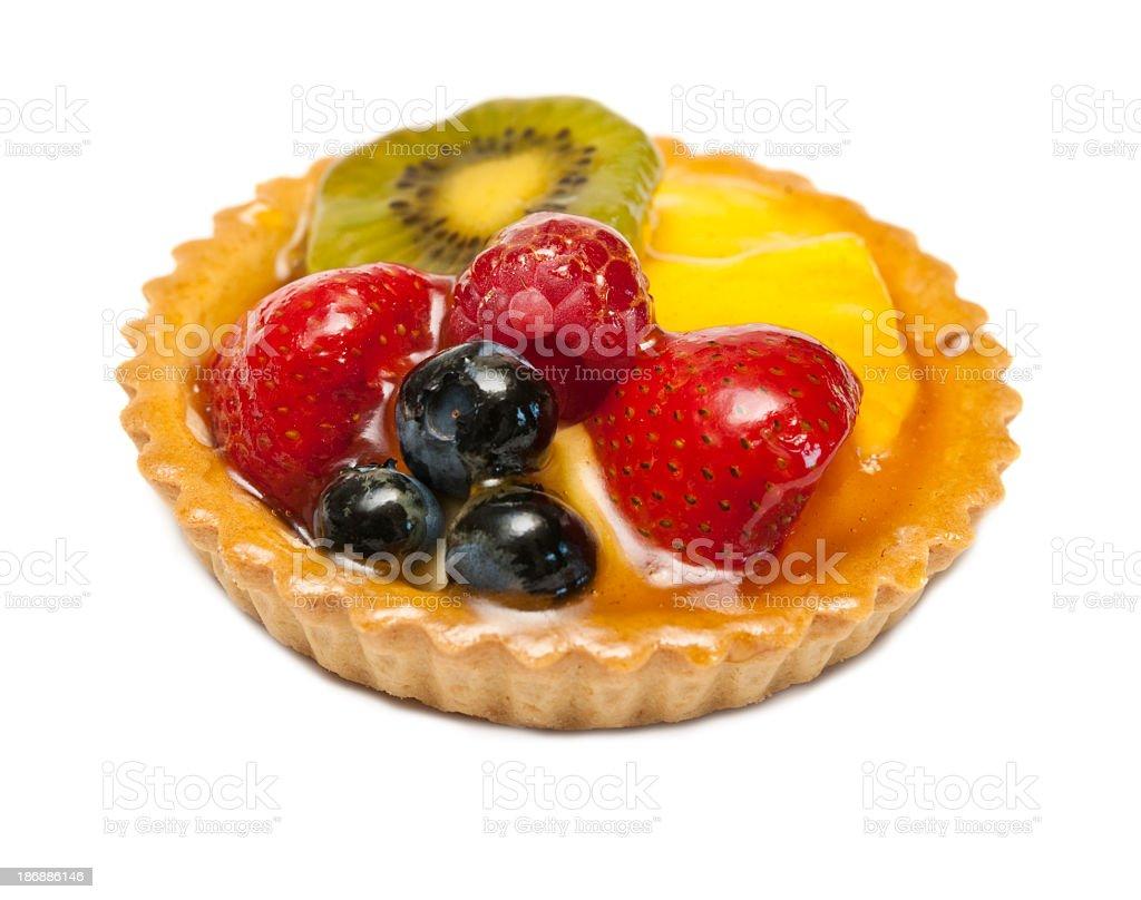 Glazed Fruit Tart stock photo
