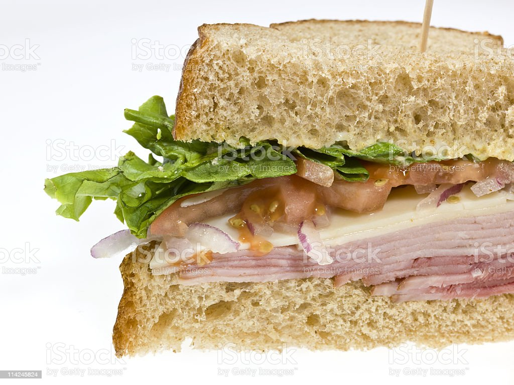 Glazed Ham and Cheese Sandwich royalty-free stock photo