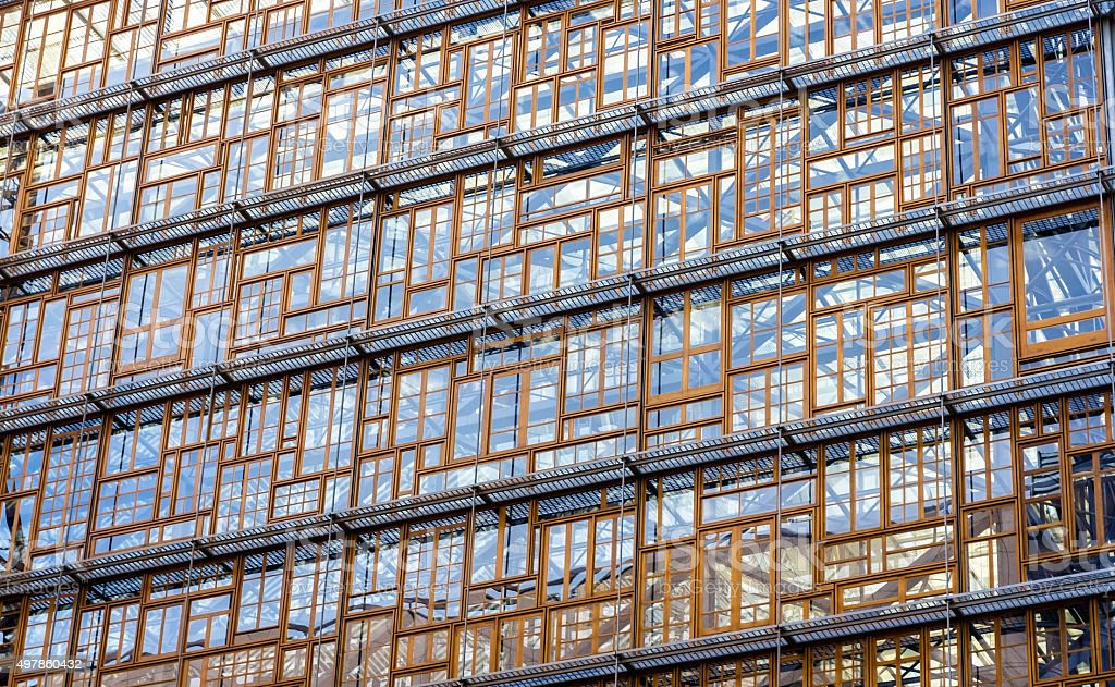 Glazing of the Europa building stock photo