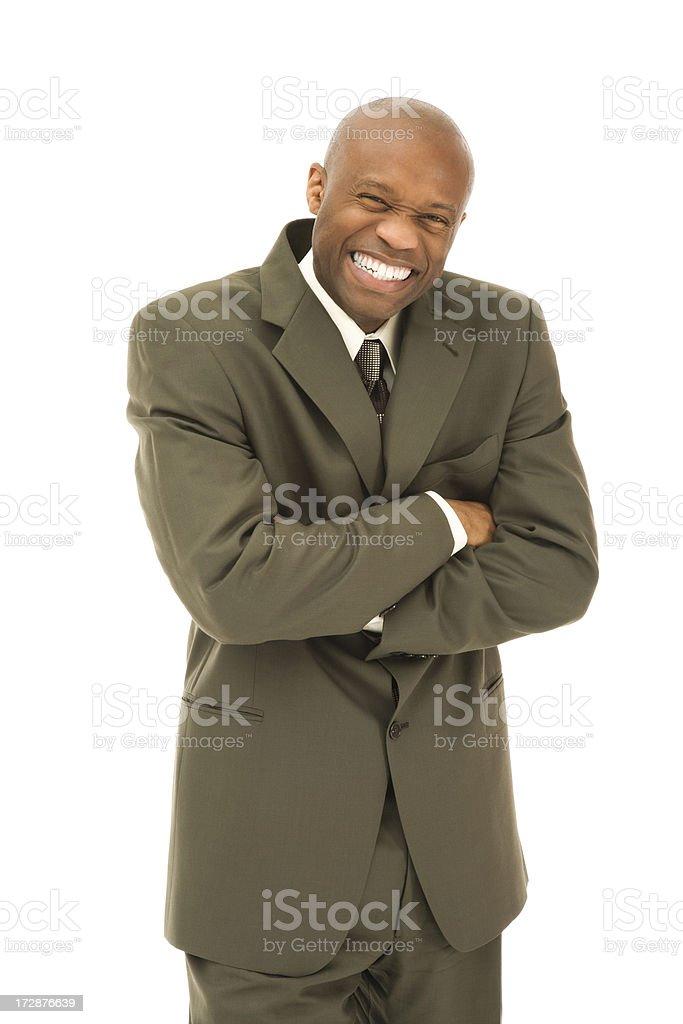 Gleeful Businessman stock photo