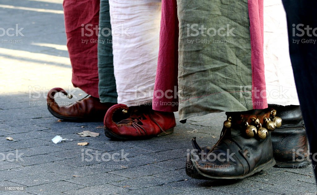 gleemen's feet - stamping the rhythm stock photo