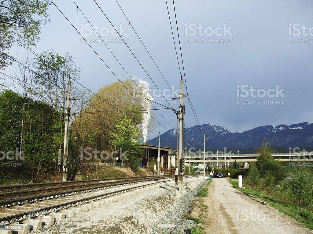 Gleisbau stock photo