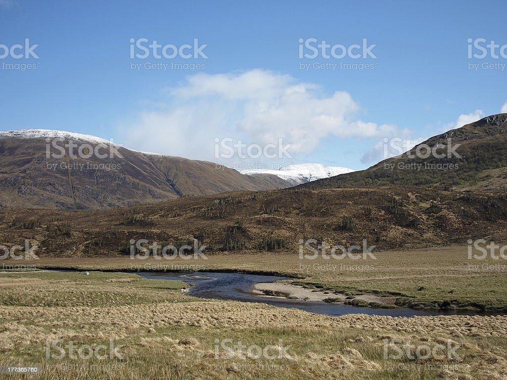 Glen Affric, Scotland in spring stock photo
