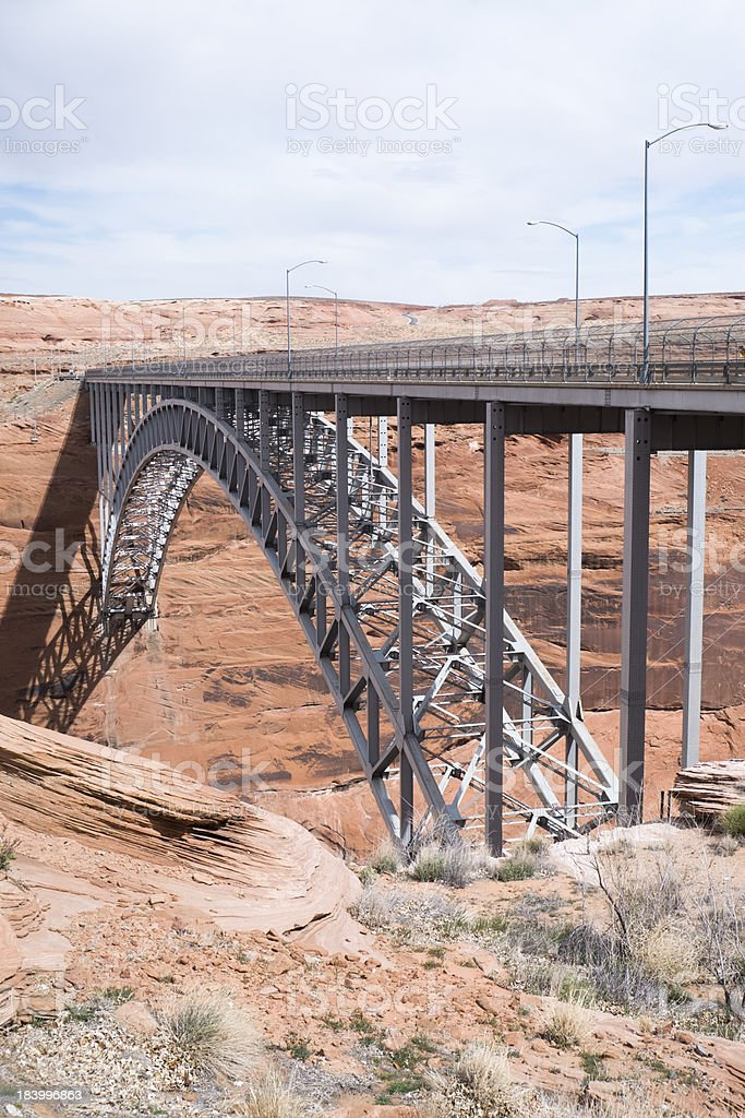 glen canyon bridge royalty-free stock photo