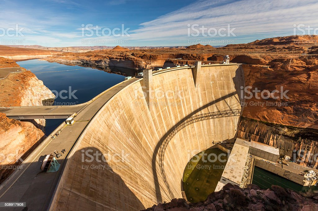 Glen Canyon Dam at Page, Arizona stock photo