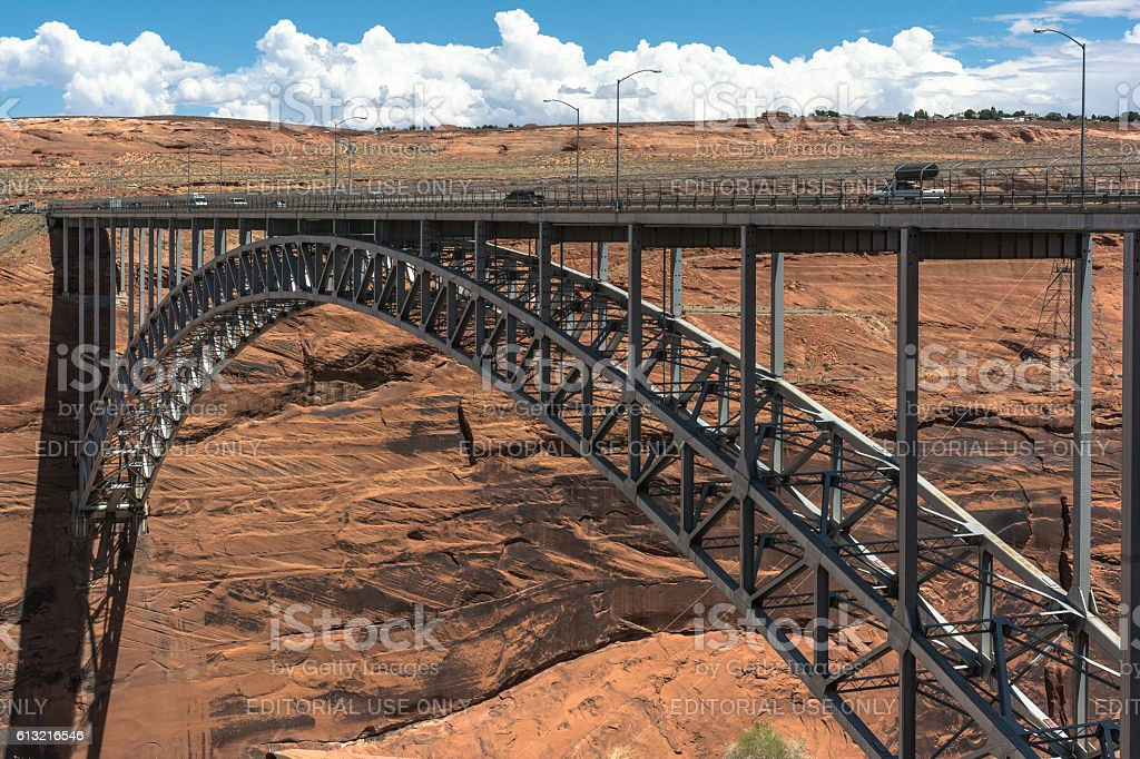 Glen Canyon Dam Bridge, Page, Arizona stock photo