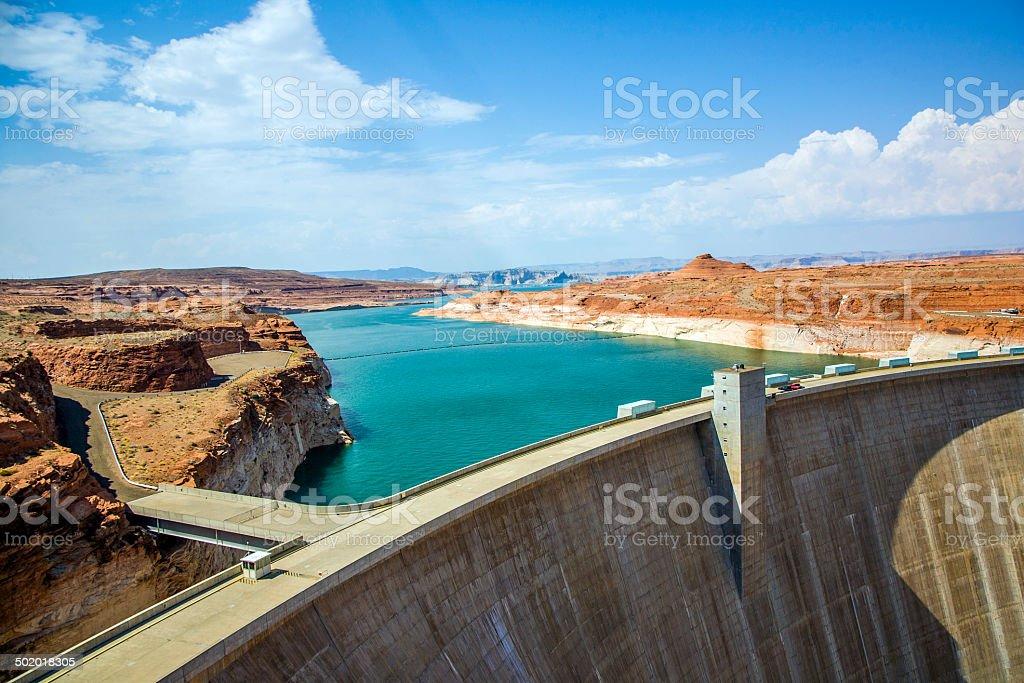 Glen Canyon Dam, near Page Arizona stock photo