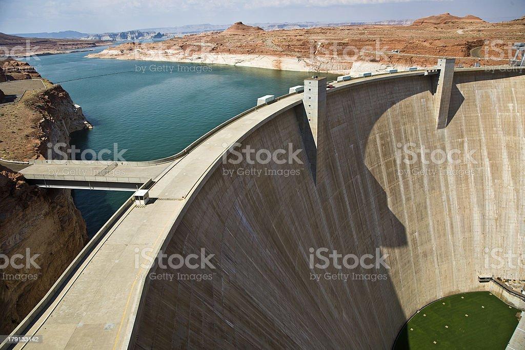 Glen Canyon Dam near Page at the colorado river stock photo