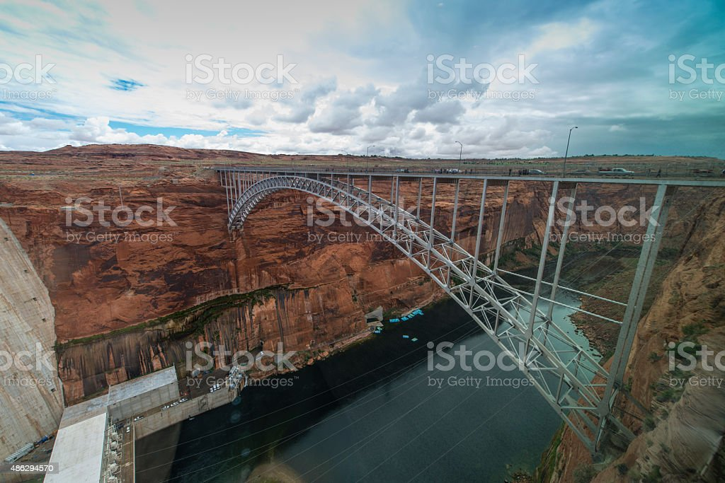 Glen Canyon Dam stock photo