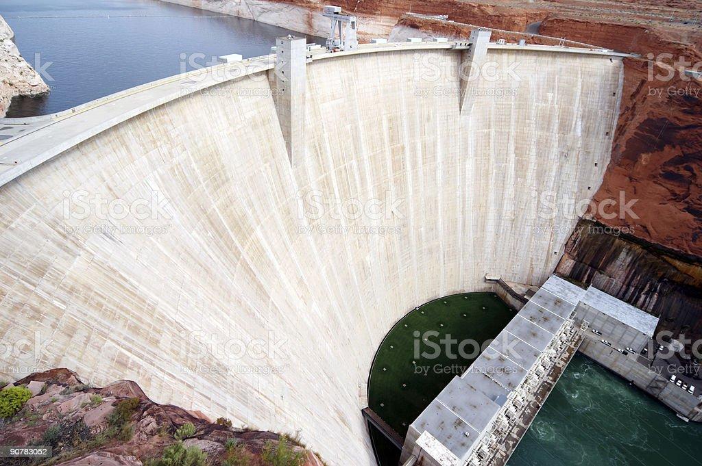 Glen Canyon Dam stock photo