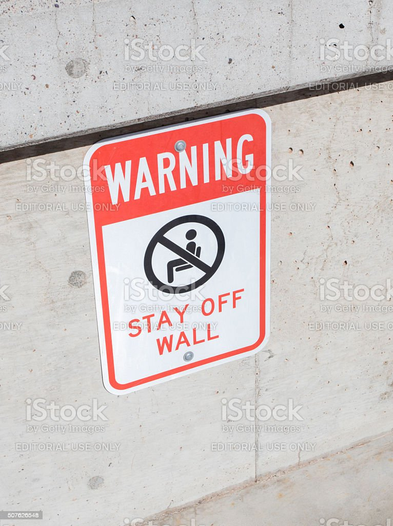 Glen Canyon Dam Warning stock photo