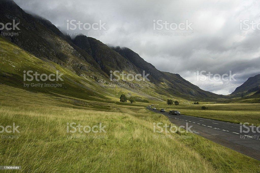 Glen Coe in the Scottish Highlands royalty-free stock photo