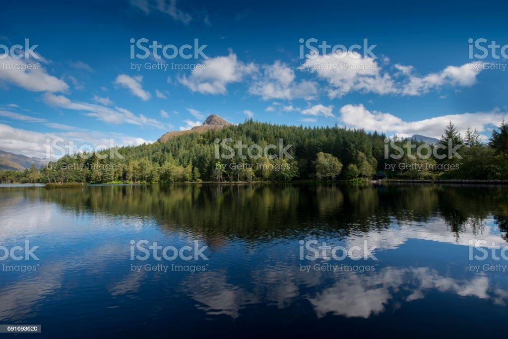 Glen Coe reflections stock photo