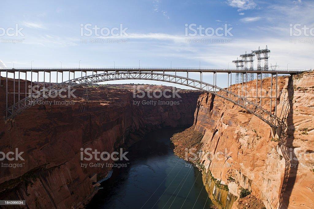 Glen Dam Bridge stock photo