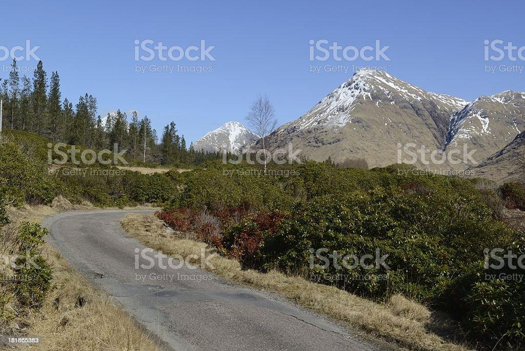 Glen Etive road royalty-free stock photo