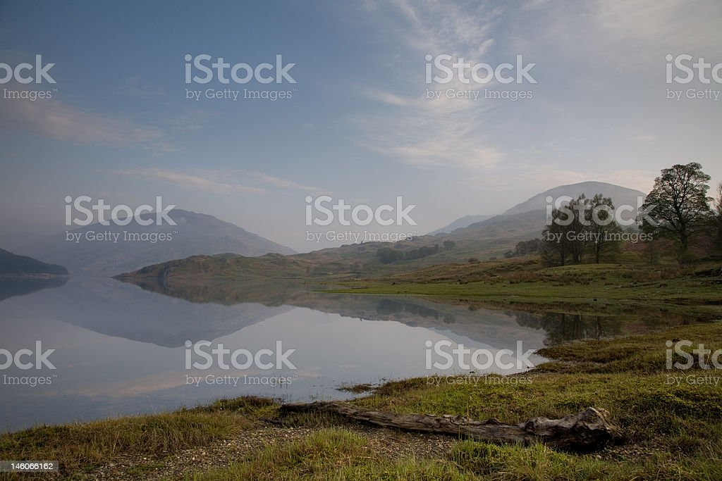 Glen Finglas Reservoir royalty-free stock photo