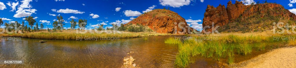 Glen Helen Gorge in the Northern Territory Australia stock photo