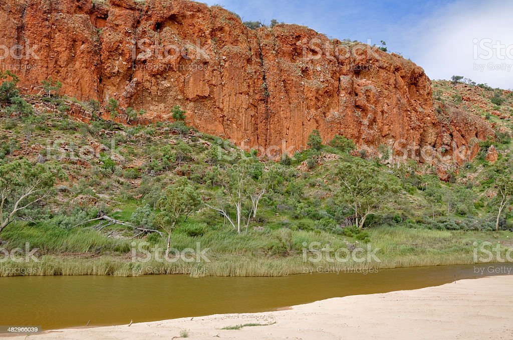 Glen Helen Gorge, West Macdonnell ranges (Australia) royalty-free stock photo