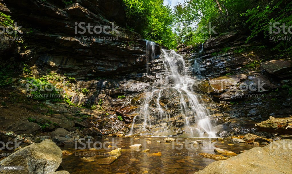 Glen Onoko Waterfalls trail, Lehigh Gorge state park, Pennsylvania, USA stock photo