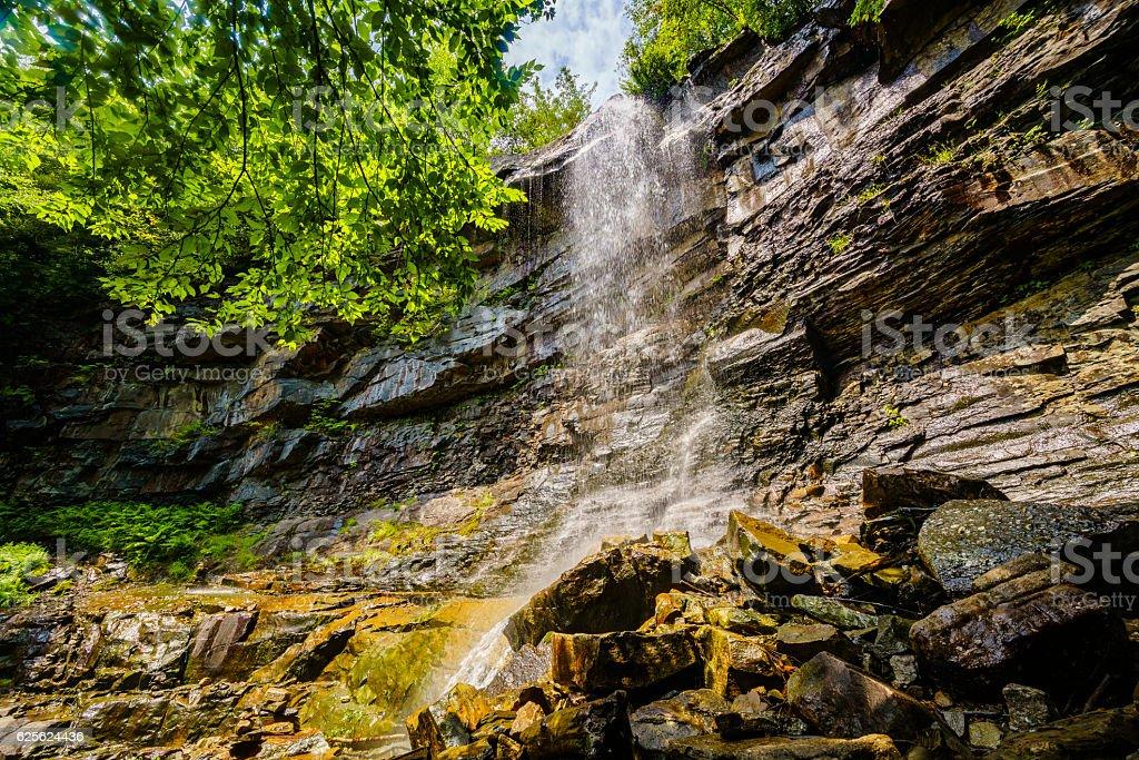 Glen Onoko Waterfalls trail, Lehigh Gorge state park, Pennsylvania, USA stock photo