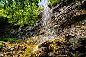 Glen Onoko Waterfalls trail, Lehigh Gorge state park, Pennsylvania, USA