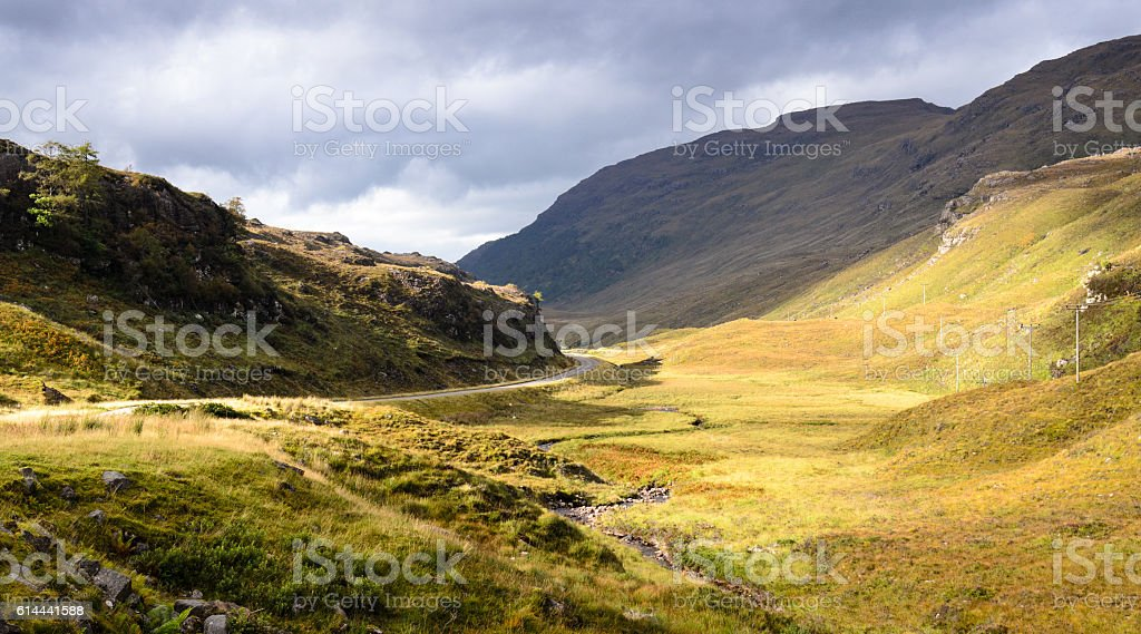 Glen Shieldaig stock photo