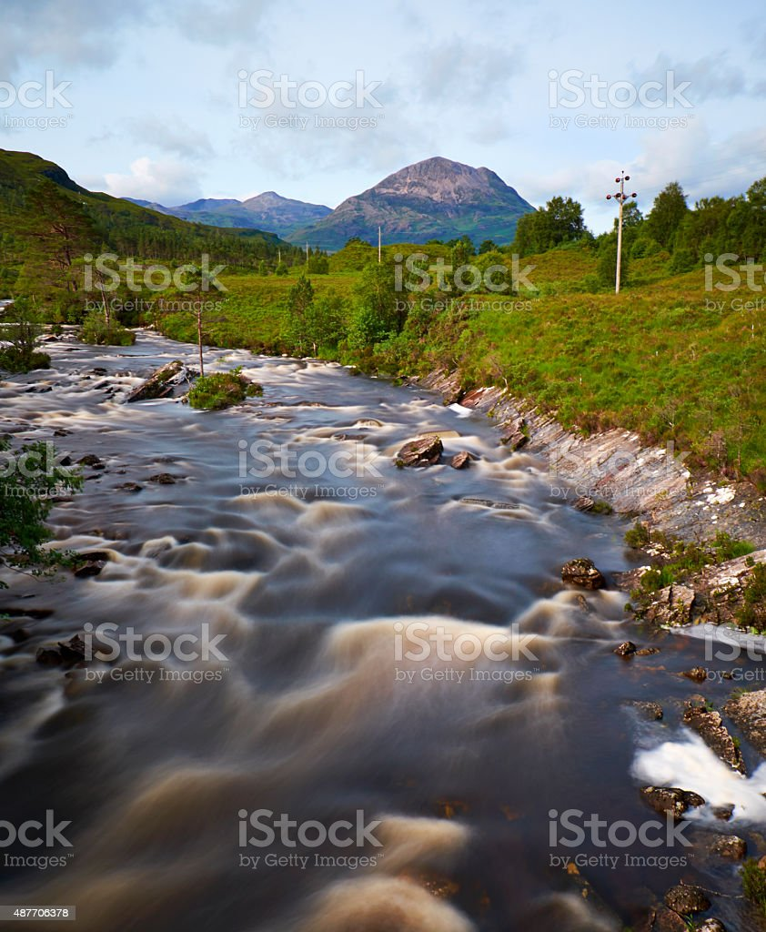 Glen Torridon In The Northwest Highlands stock photo