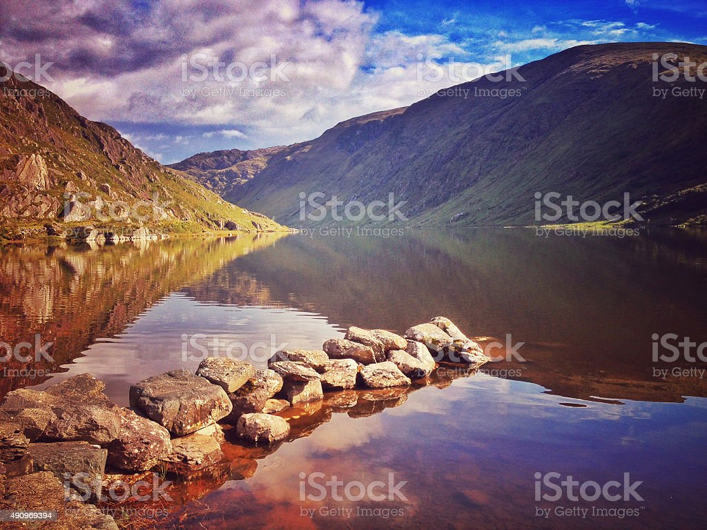 Glenbeg Lake stock photo