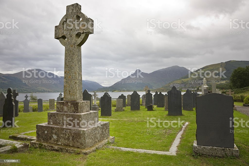 Glencoe Graveyard stock photo
