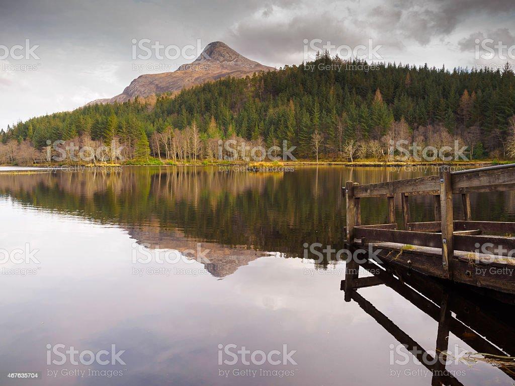 Glencoe Lochan in the Scottish Highlands. stock photo