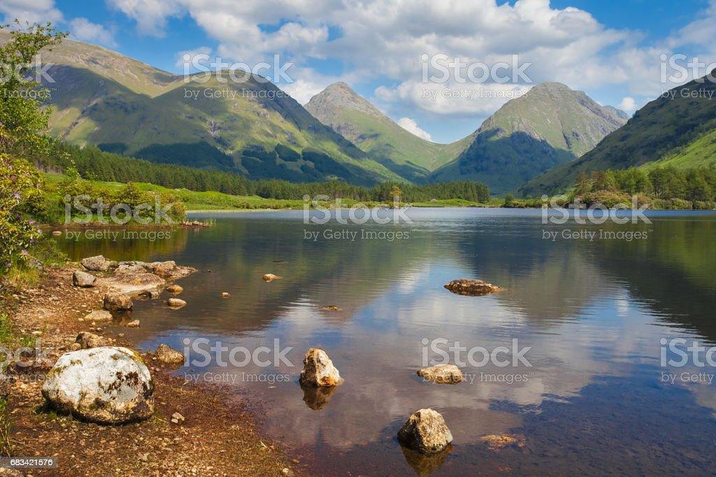 Glencoe Lochan. Scottish Highlands Scotland UK stock photo