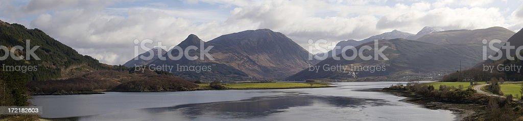 Glencoe Panorama royalty-free stock photo