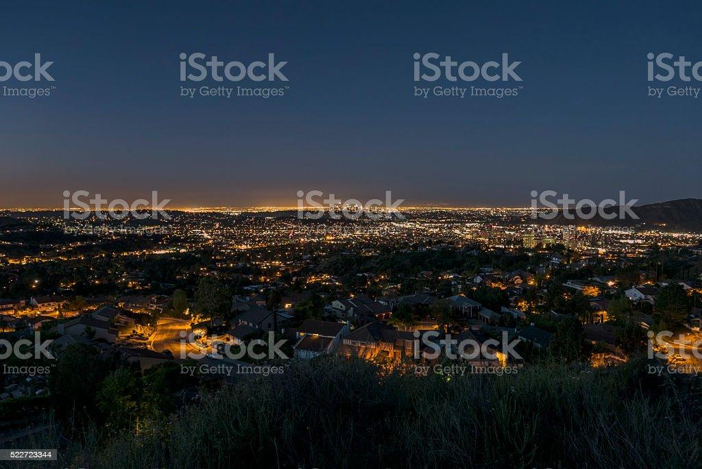 Glendale California Dawn stock photo